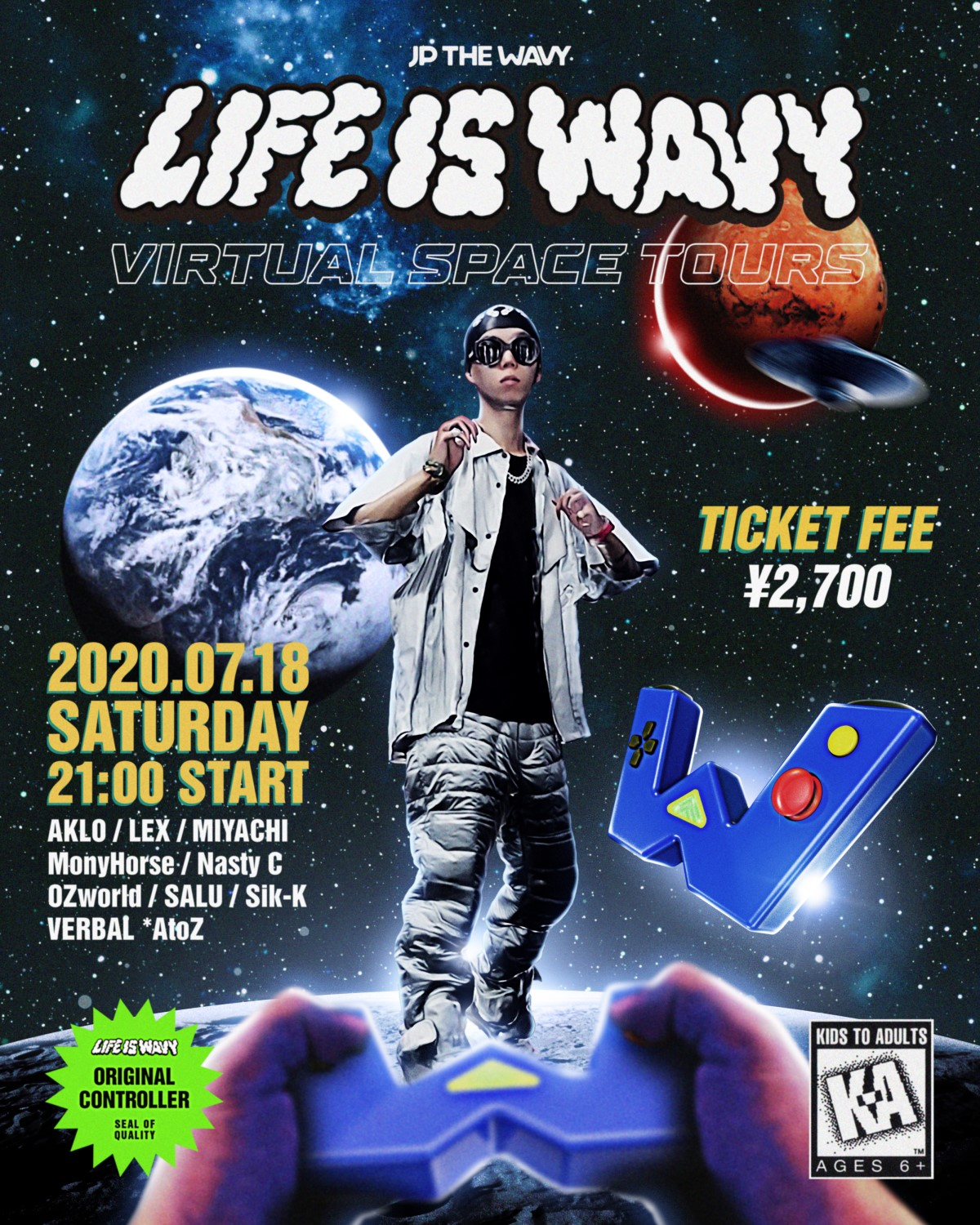 LIFE IS WAVY VIRTUAL SPACE TOURS | JP THE WAVY