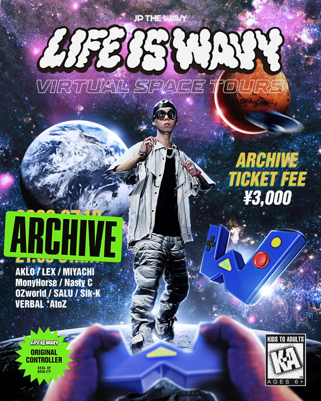 LIFE IS WAVY VIRTUAL SPACE TOURS [Archive] | JP THE WAVY